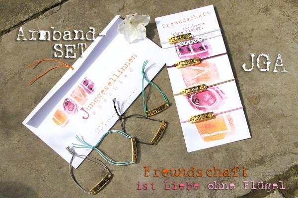 JGA Armband Set: 4 + mehr | Freundschaftsbänder LOVE