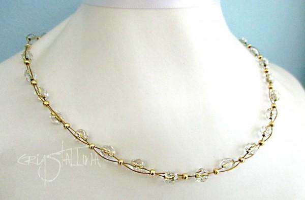 Perlenkette | böhmischer Glasschliff auf Juwelierdraht | Maßanfertigung