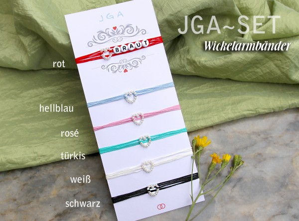 Armband-Set | Team Bride | JGA Armbänder | 6 + mehr | für Braut und Team