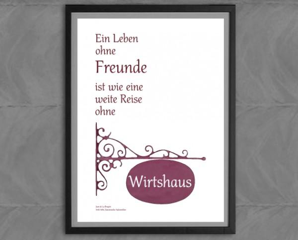 Typo-Druck, Freunde + Wirtshaus | Jean de la Bruyère