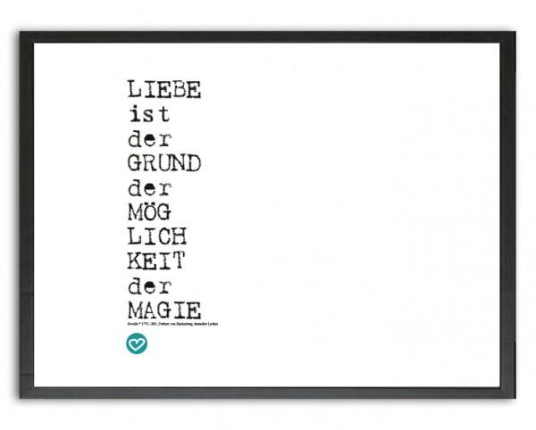 Typo Druck | *Liebe & Magie*, Zitat | Novalis