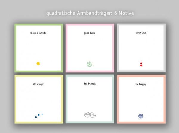 Armbandkarten | Displays | Armbandträger | Schmuckpräsentation | Karton weiß | 250g