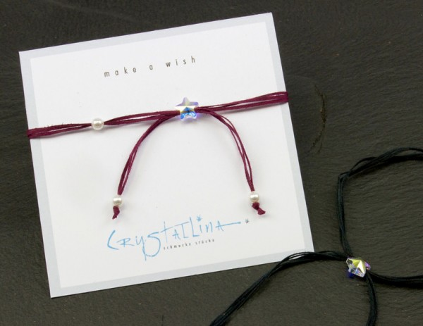 Wunscharmband | mini Stern mit 3 Swarovski-Perlen | Farbauswahl