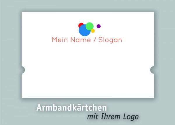 Armbandkarten | Displays | mit *Ihrem Logo* personalisiert