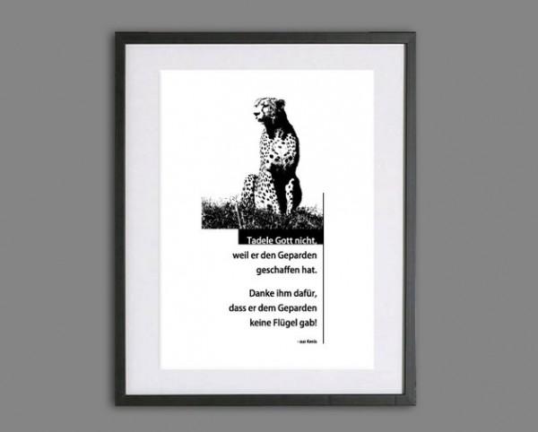 Typo Druck | *Der Gepard*, Zitat aus Kenia