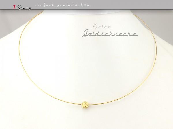 Draht-Collier | Brautschmuck | kleine goldene Schnecke