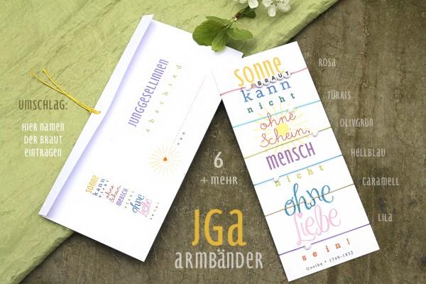 JGA Armbänder | HERZ Armbänder: 6 + mehr | JGA + Brautparty, SET