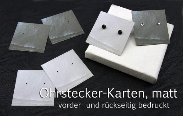 Schmuck Präsentation | Ohrstecker Träger, Quadrat | Optik edles Papier