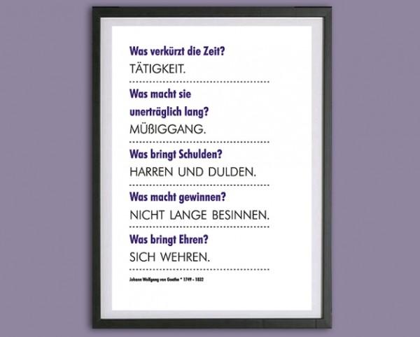 TypoDruck | Frage + Antwort, Goethe