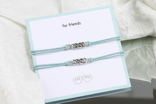 Freundschaftsarmbänder | 2 Stück | Infinity Symbol, Band