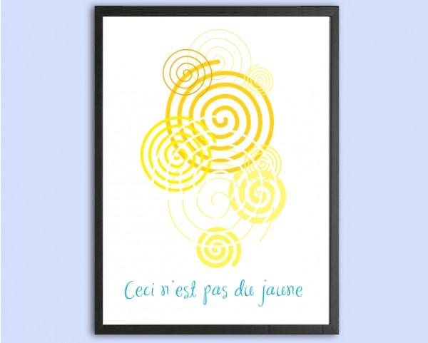 Art Print | Ceci n'est pas du jaune, René Magritte
