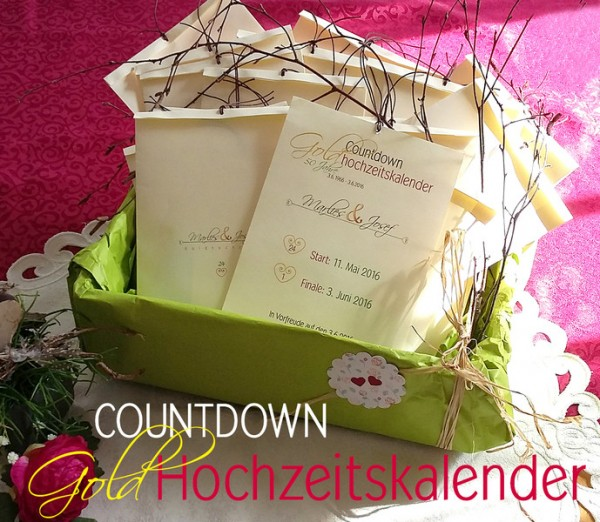 50 JAHRE | COUNTDOWN Kalender | Goldhochzeit | individualisierbar