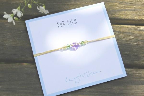 Freundschaftsarmband | Blume, Swarovski Kristall