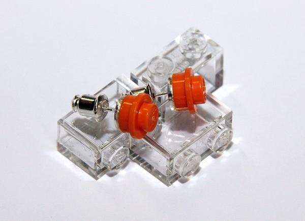 Ohrstecker | Stoeterij | Oranje | rund aus Lego® Bausteinen