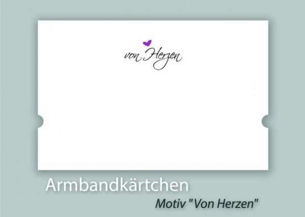 Armbandkarten | Display mit Motiv *VON HERZEN*
