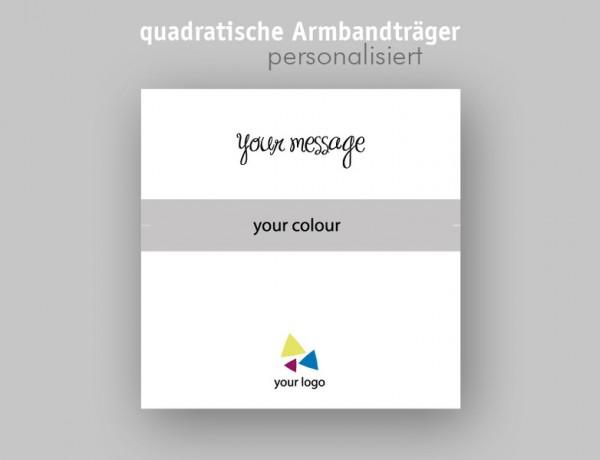 Armbandkarten | Schmuckdisplays | Quadrat | mit IHREM Logo Design