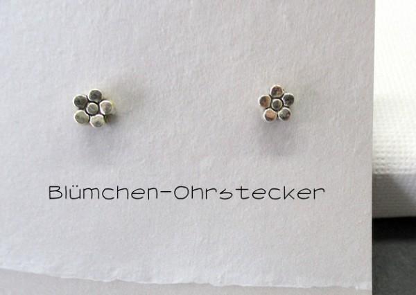 Ohrstecker | Miniblümchen, versilbert