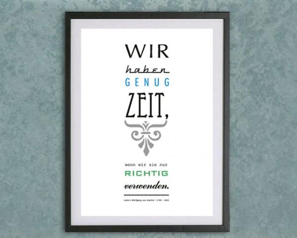 Typo Druck | *Genug Zeit*, Goethe
