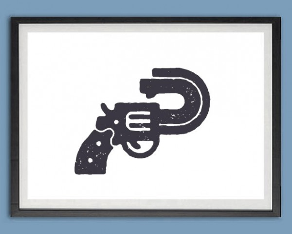 Grafik Druck | Don't shoot! Pistole