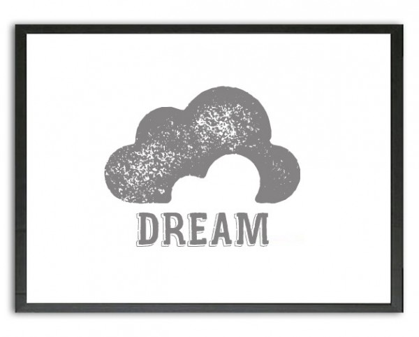 Grafik Druck | DREAM, Wolke