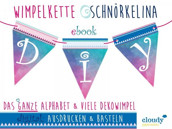 DIY, Girlande | Wimpelkette aus Papier, ebook, ABC
