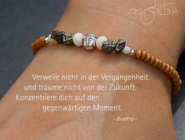 Buddha-Armband | Set für sie und ihn, elastisch