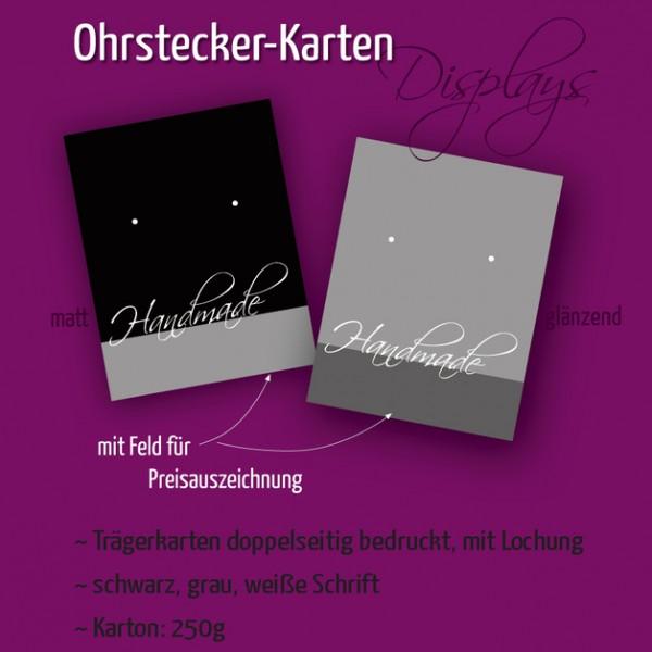 Ohrstecker-Träger | Handmade | doppelseitig | Schwarz und Grau