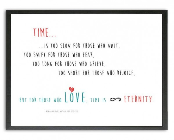 Typo Druck | LIEBE: Time, Love, Eternity, Initiale