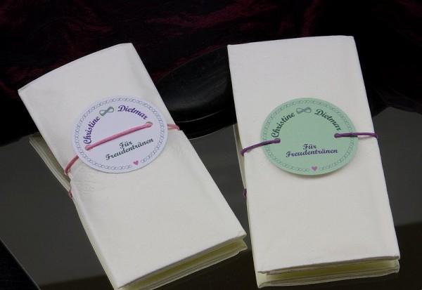 Feste & Feiern | Banderolen für Freudentränen | Hochzeit