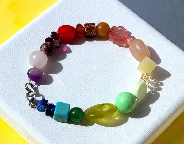 Armband | Edelsteinmix | Regenbogen | Farbkreis