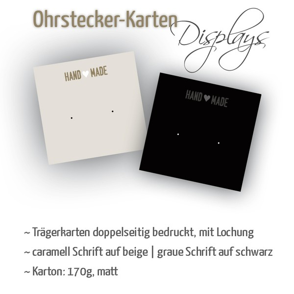 Ohrstecker-Träger | Quadrat | handmade mit Herz