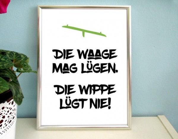 Typo Druck | *Waage & Wippe*