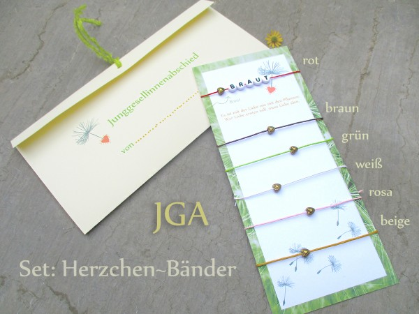 JGA Armbänder NATUR | SET 6 + mehr | Team Bride | Braut & Team | Farbmix