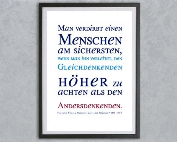 Typo Druck | *gleich + anders*, Zitat, Nietzsche