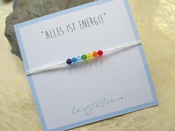 Wunscharmband ENERGIE   Chakra, 7 Farben mit Swarovski-Kristallen
