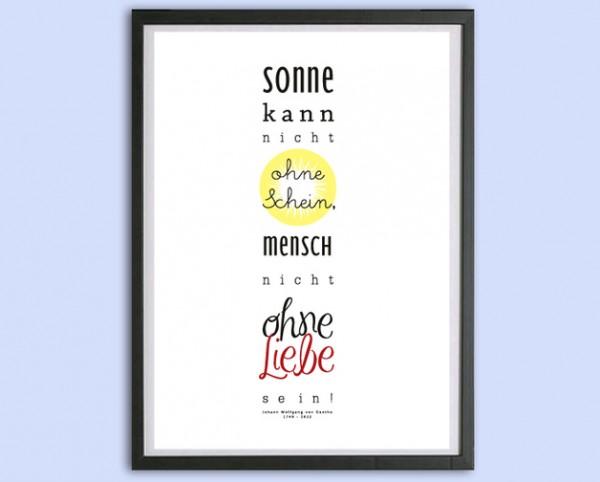 Typo Druck | *Sonne und Liebe*, Goethe