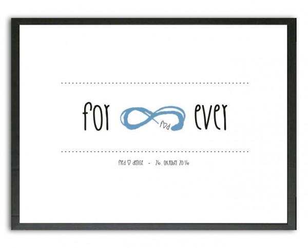 Typo Druck | Hochzeit, infinity symbol, Namen