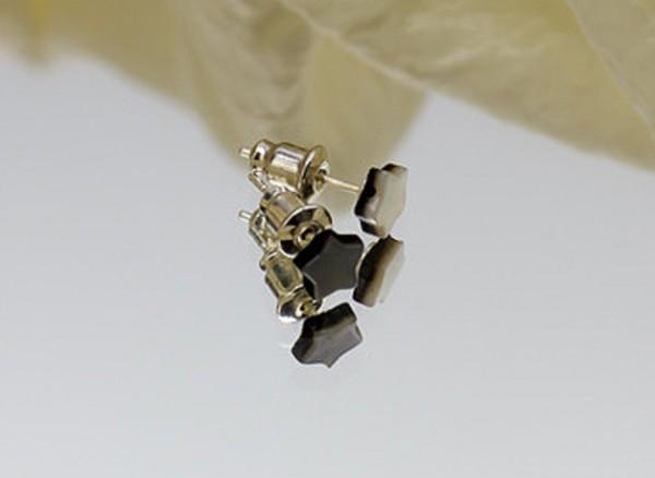 Ohrstecker | Perlmutt | Kleine Mini-Sternchen | versilber oder Sterling Silber