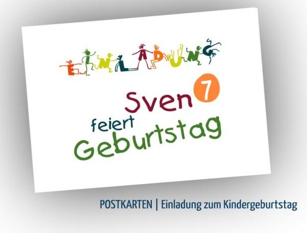 Einladung zum Kindergeburtstag | bunt