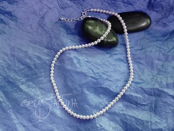 Perlencollier | Hochzeit | mit Swarovski® Perlen | Weiß