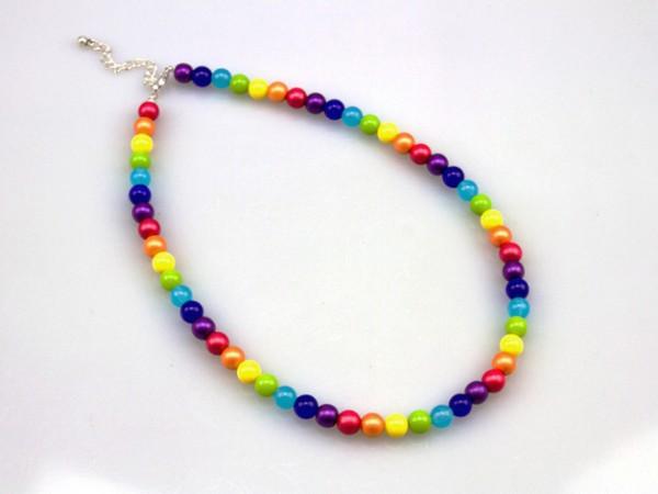 Halskette | Collier | Regenbogen-Schmuck | Symbolfarben, Chakra