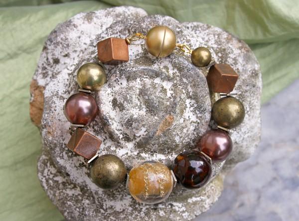 Unikat Armband, Natur | rund + eckig, Magnet | Einzelstück