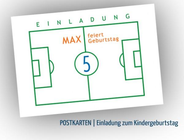 Einladung | Einladungskarte | zum Kindergeburtstag, Fußball