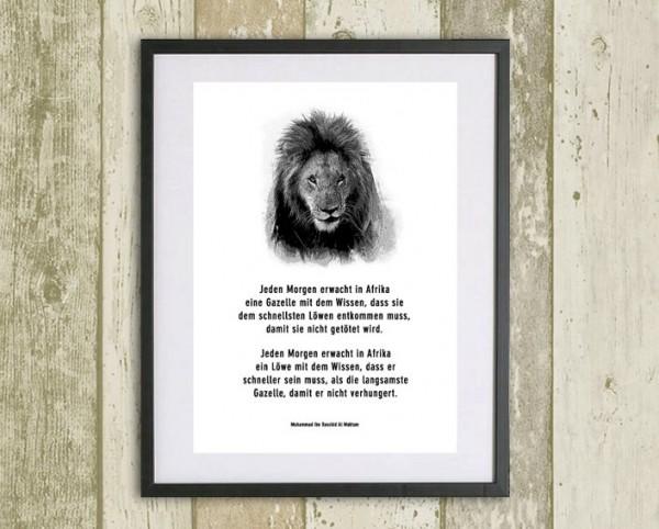 Typo Druck | *Löwe und Gazelle*