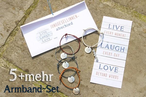 JGA Armbänder SET | 5 + mehr | LIVE - LAUGH - LOVE