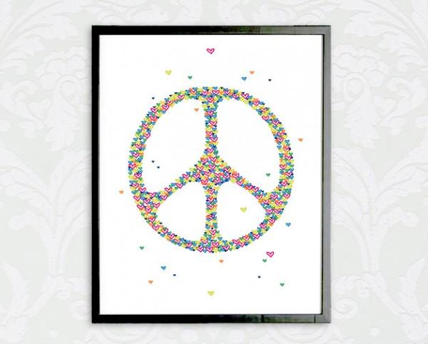 Symbol Druck | Peace - Frieden, *von Herzen*