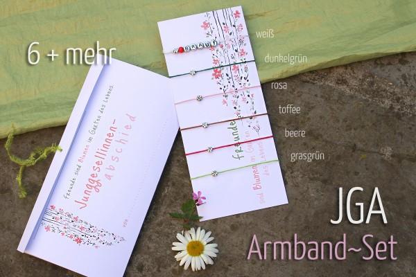 JGA Armbänder | SET: 6 + mehr | BLUMEN, Braut & Crew