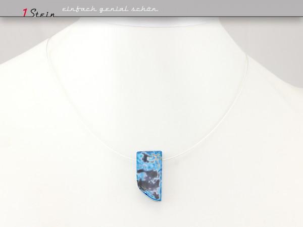 Draht Collier | Halskette kurz | Achatspitze auf Juwelierdraht